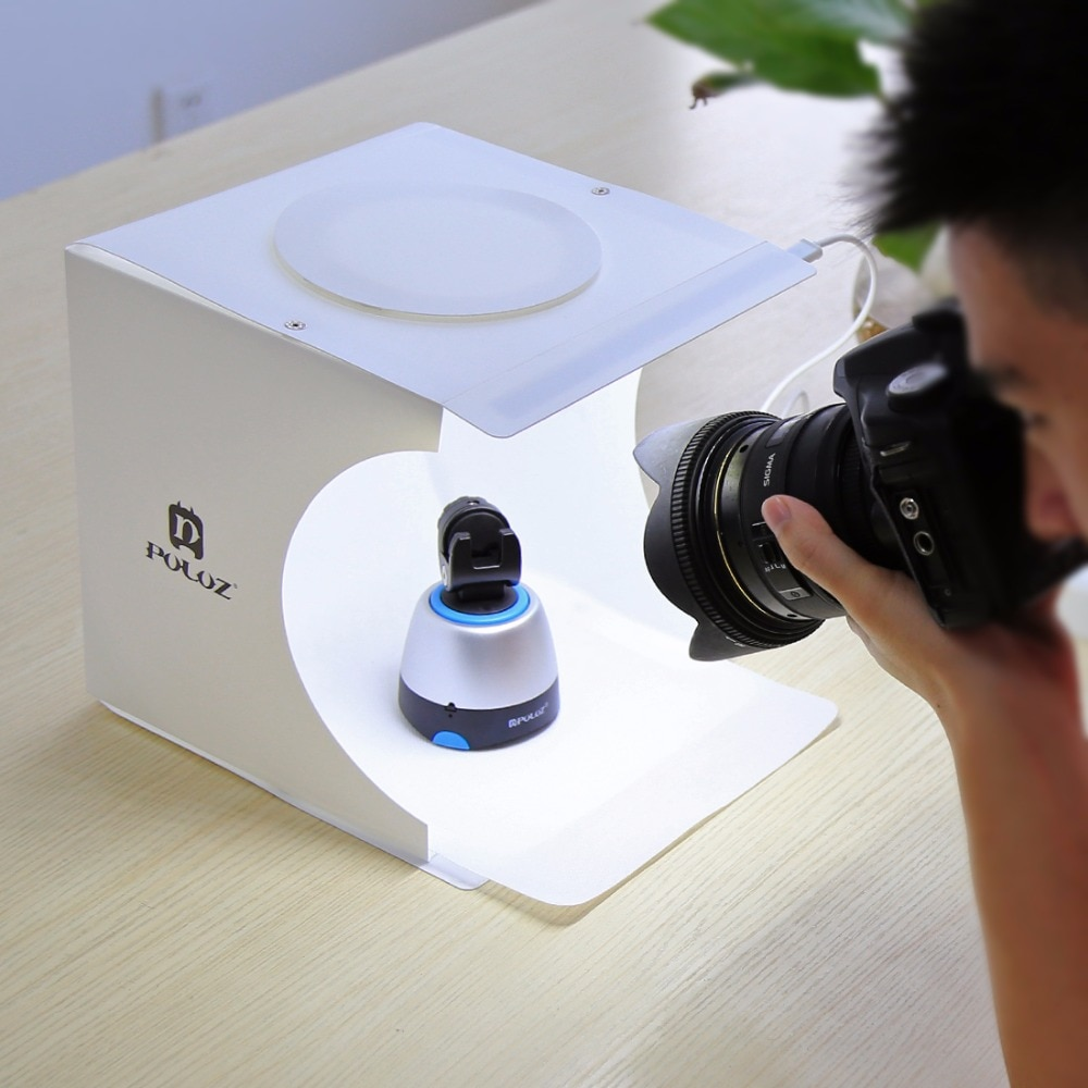 Mini Fotostudio met Dual LED-licht